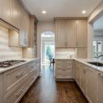 Neutral color palette shaker cabinet kitchen
