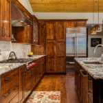 Rustic kitchen with shaker kitchen cabinets