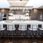 Beautiful Lighting in this Contemporary Kitchen